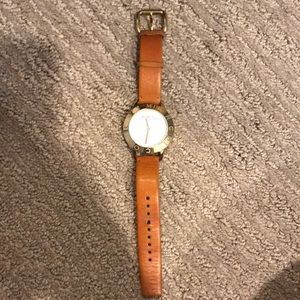 Marc Jacobs brown leather and gold watch